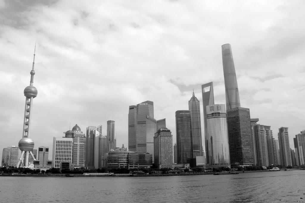 china black and white