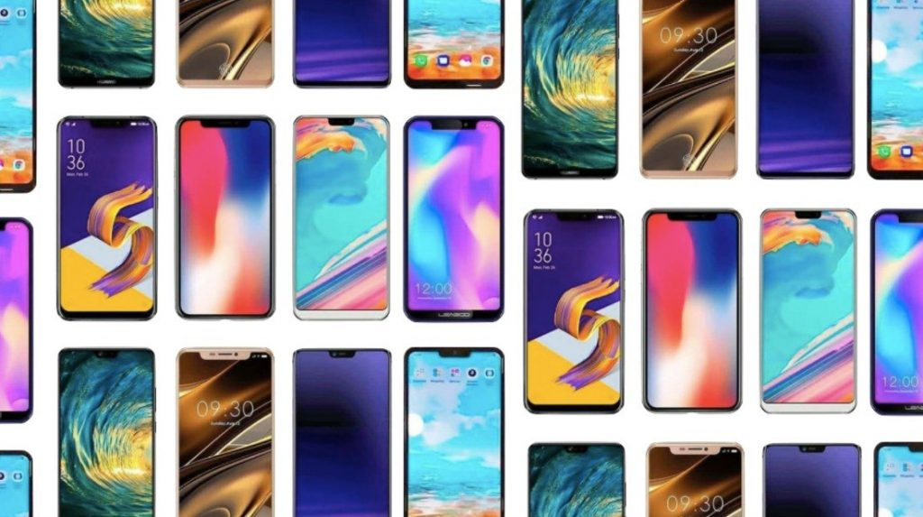 Smartphones notches
