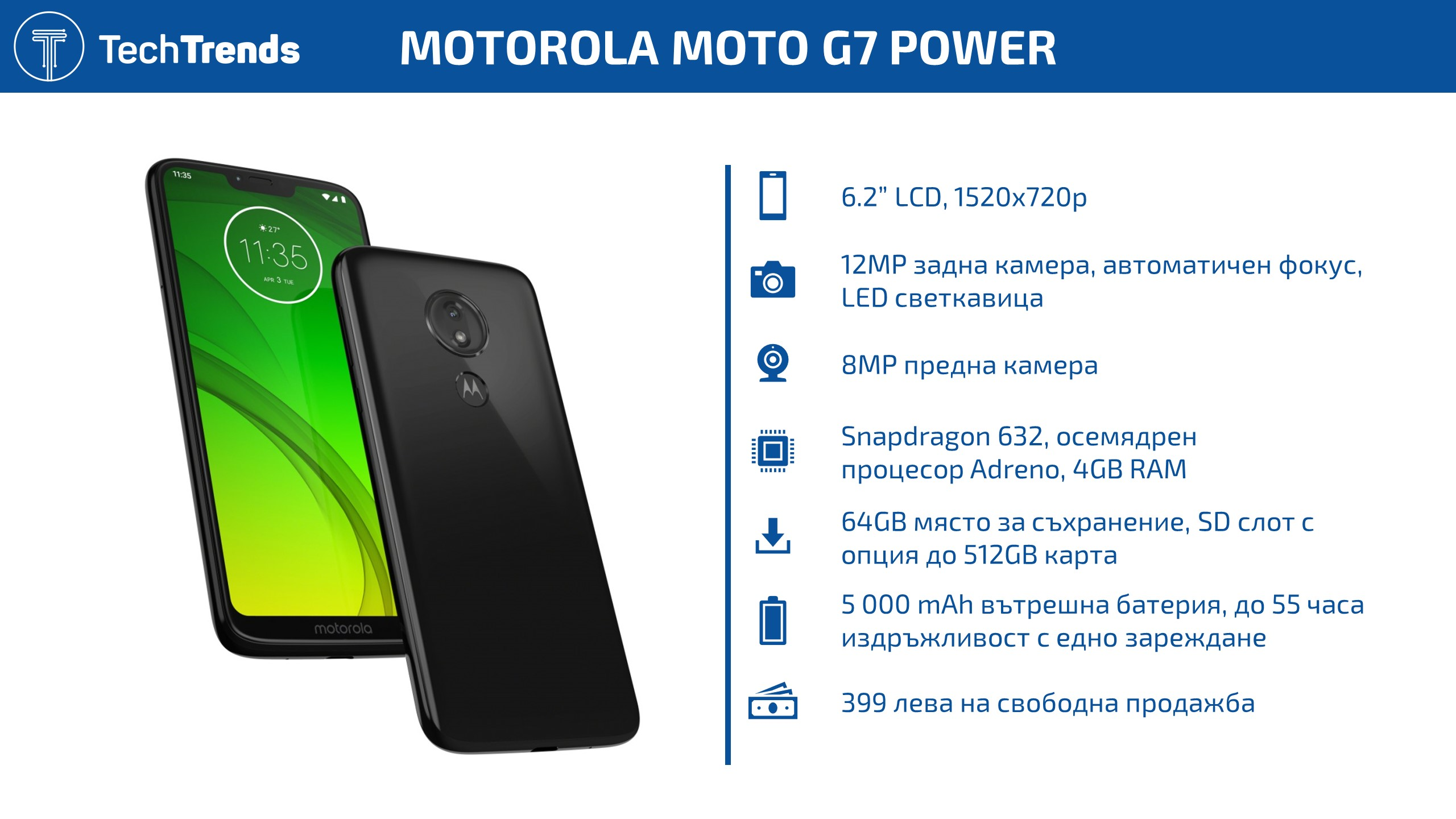 Moto G7 Power Infographic
