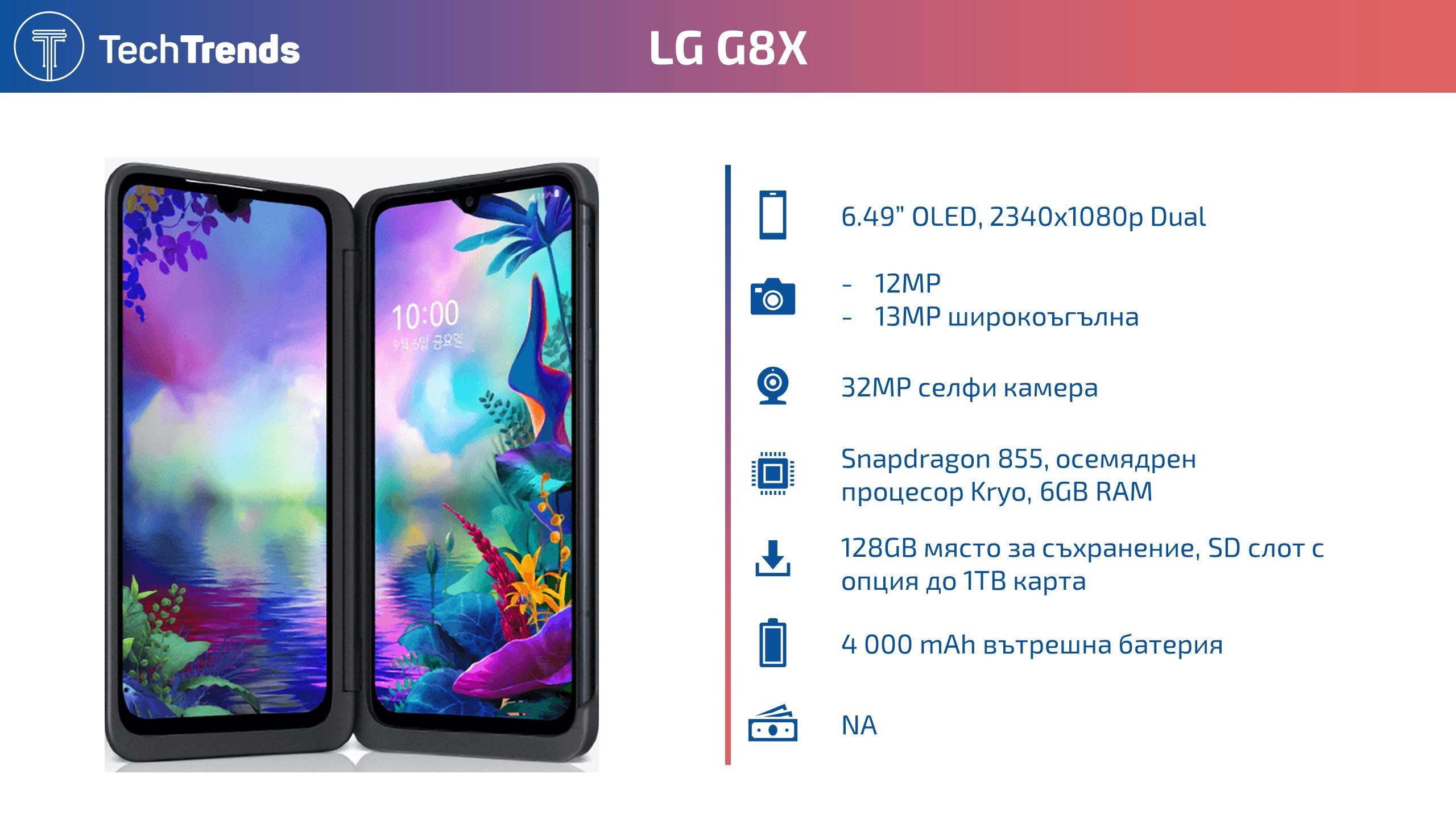 LG G8X Infographic