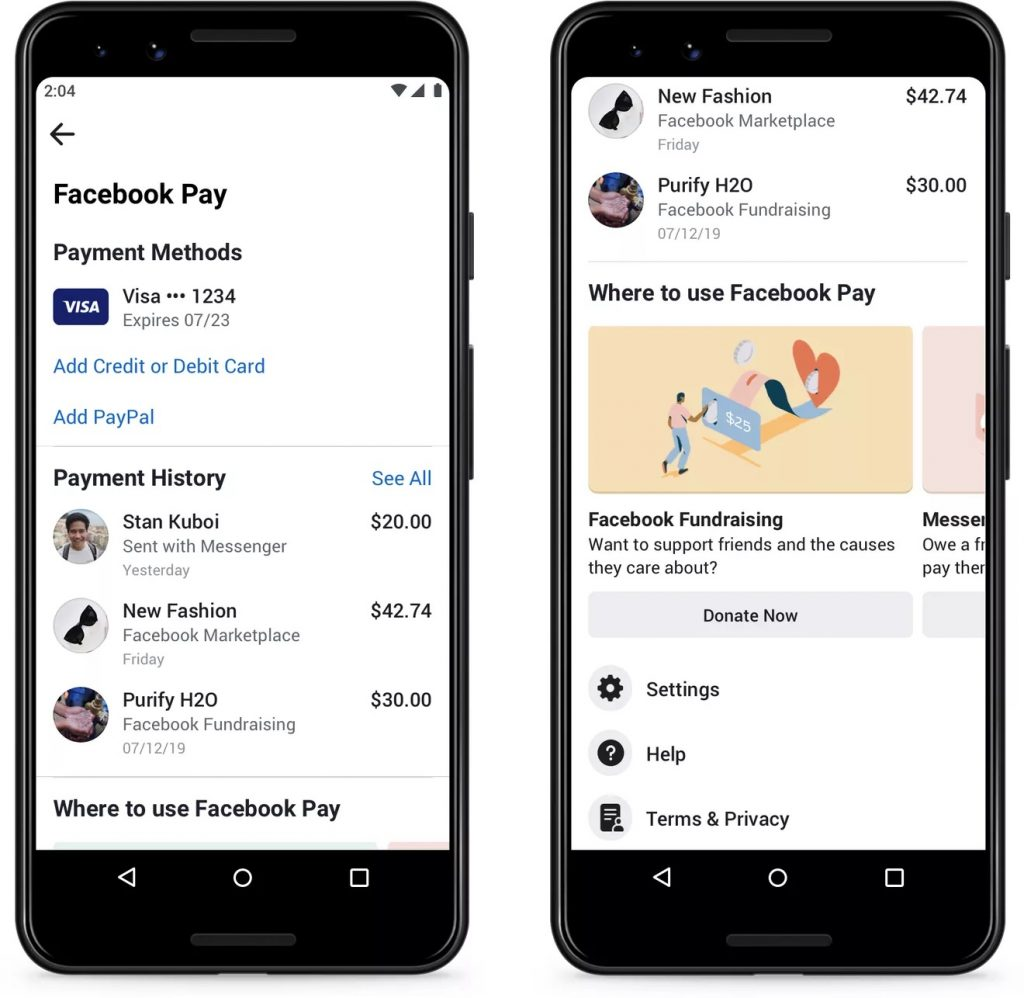 facebook-pay-history