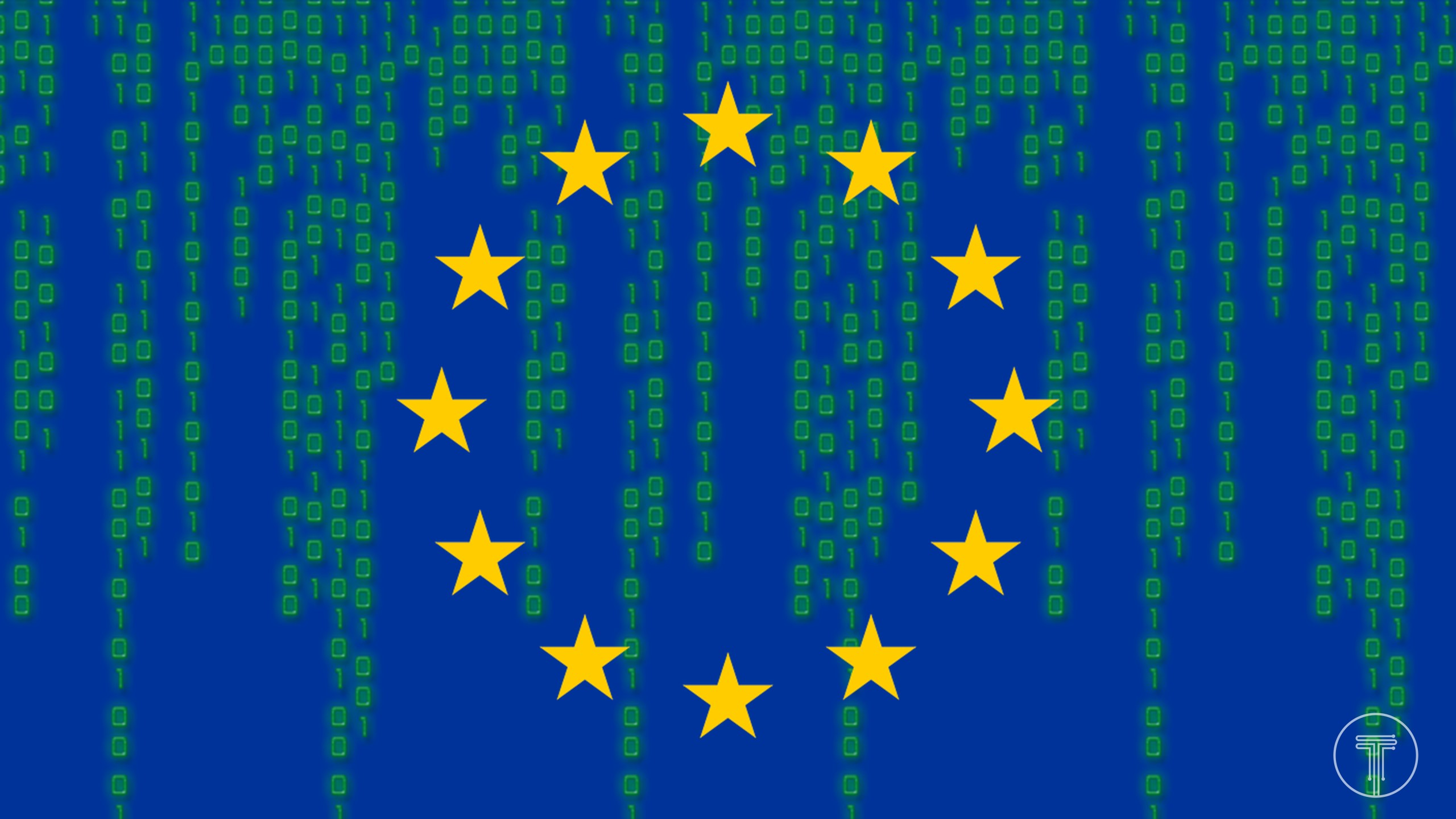 Digital-European-Union-Flag