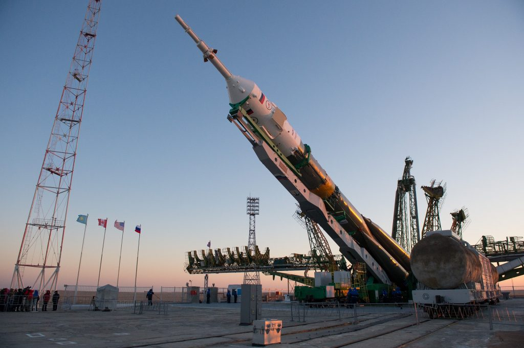 Expedition 34 Soyuz Rollout