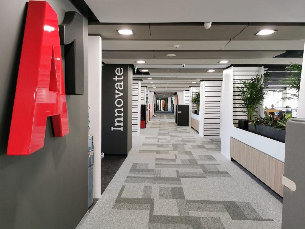 A1 Bulgaria-Inside Office Building-Corridor