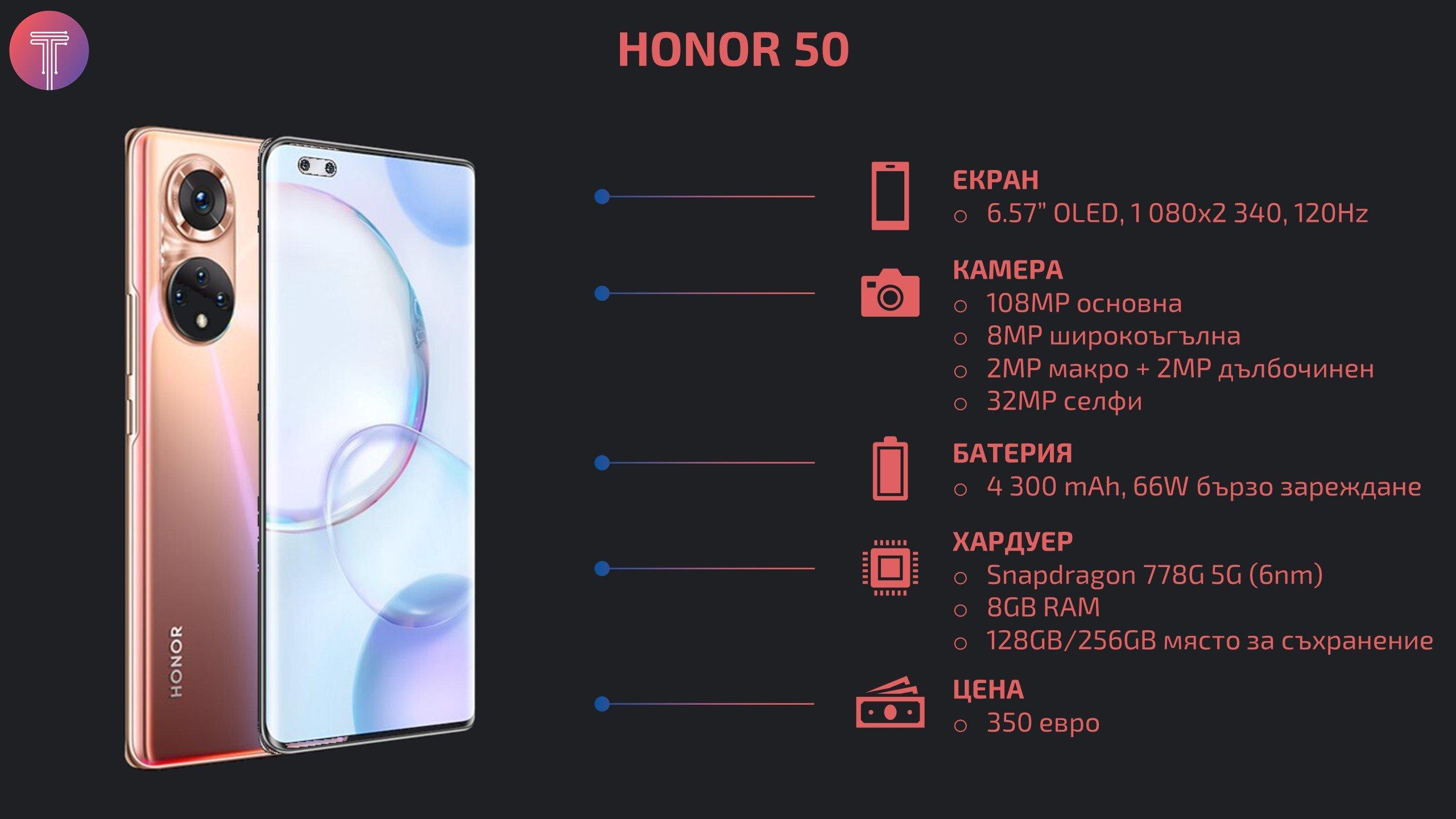 Honor 50 Specs